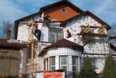 Утепление фасада дома. Изоляция пенопластом