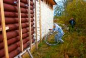 Утепление деревянного дома снаружи. Виды работ, особенности материалов