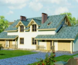 Каркасный дом на две семьи. Проекты домов