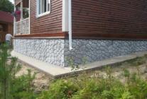 Покраска фундамента дома