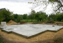 Плитный фундамент под кирпичный дом