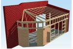 Односкатная крыша пристройки к дому. Делаем пристройку своими руками