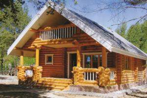 Дом из калиброванного бревна: проекты и самостоятельное строительство