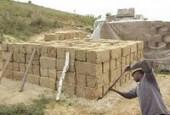 Строительство бани из самана