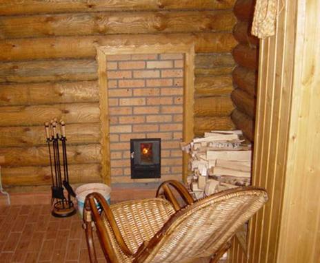 Перегородка деревянной бане