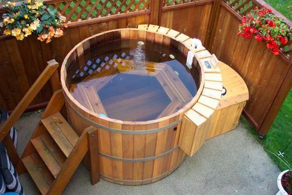 Японская баня офуро своими руками