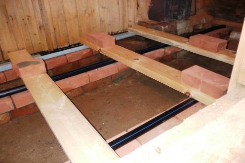 Строим пол в бане