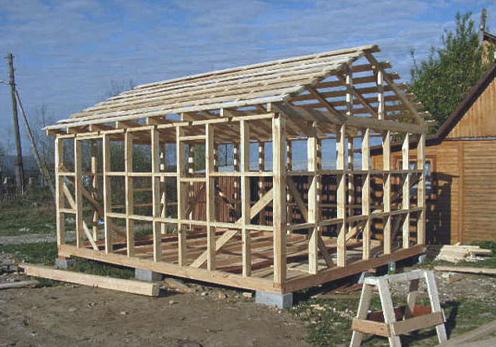 Поэтапное строительство каркасной бани