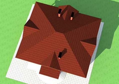Вальмовые крыши частных домов фото