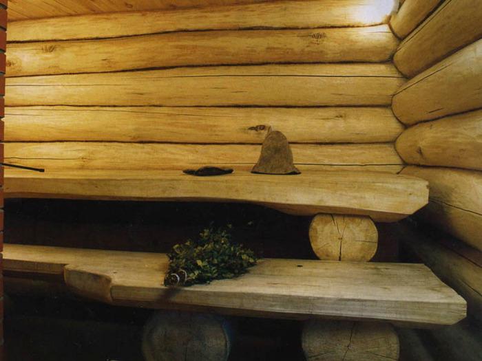 полочки для бани из дерева