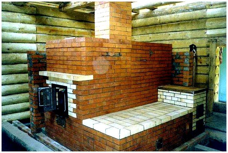 кирпичная печь в русской бани
