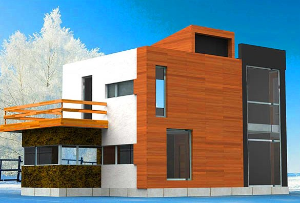 Проекты-домов-в-стиле-хай-тек-с-плоской-крышей