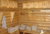 Строительство раздевалки для бани