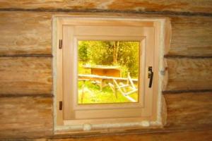 Окно в баню своими руками