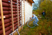 Проводим утепление деревянного дома своими руками