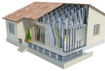 Каркасный дом из металлопрофиля