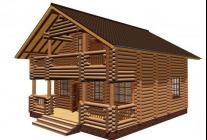 Создание дома из бревен 8х8