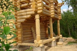 Дома из строганного бревна
