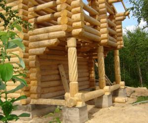 Дома из строганного бревна. Как делается сборка сруба