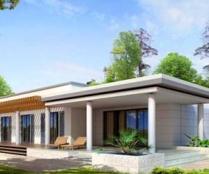 Одноэтажный дом с плоской крышей возможно построить самостоятельно