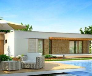Двухэтажный дом с плоской крышей  создаем своими руками
