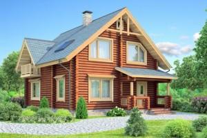 Бесплатные проекты домов из бревна