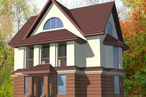 Проект двухэтажного дома 10х10