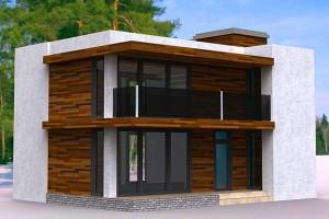 Проекты домов в стиле хай-тек с плоской крышей