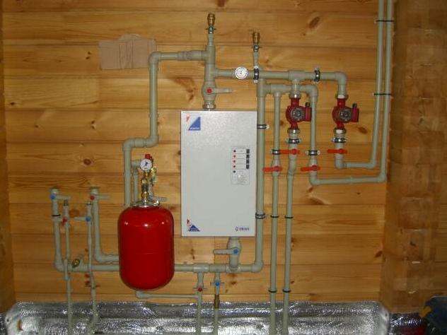 Схема электрического отопления фото