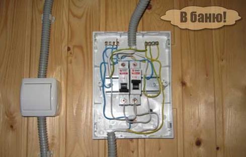 Электропроводка в ба…