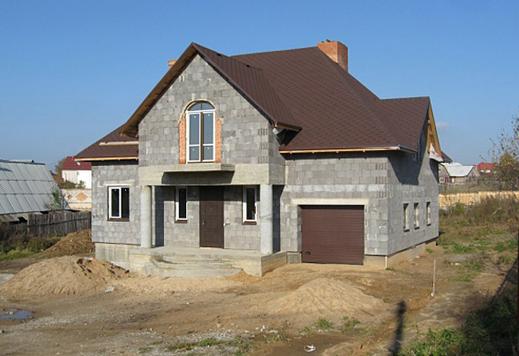 Дома из керамзитобетонных блоков фото