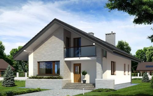 Крыши домов с мансардой фото