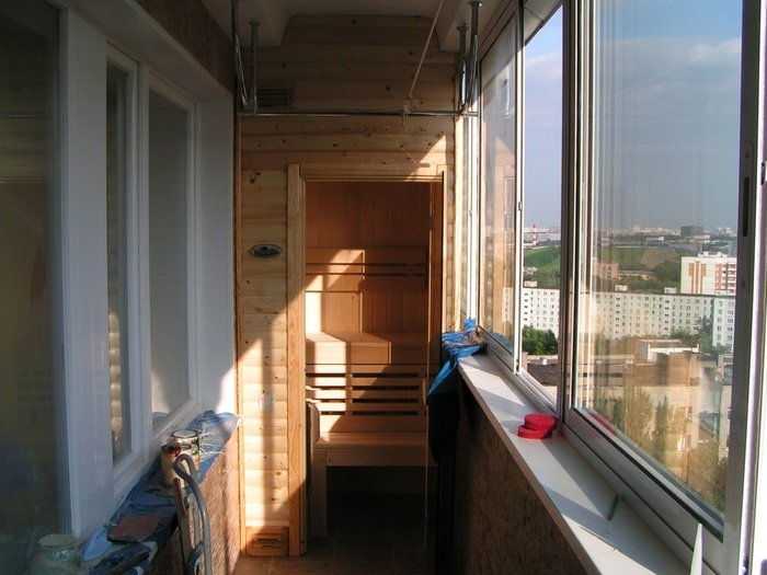 баня на балконе свои…