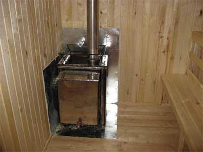 установка дровяной печи в баню